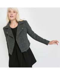 School Rag - Bictoire Wool Biker Jacket - Lyst
