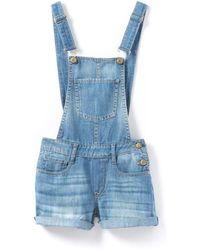 Le Temps Des Cerises - Anoa Short Denim Dungarees, 10-16 Years - Lyst