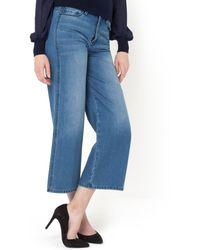 La Redoute - Cotton Denim 7/8 Length Culottes - Lyst