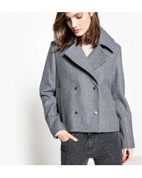 La Redoute - Cropped Wool Blend Coat - Lyst