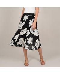 Molly Bracken - Falda plisada con largo midi y estampado de flores - Lyst