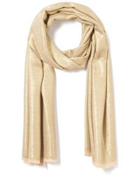 La Redoute - Scarf With Silver Metallic Fibres - Lyst