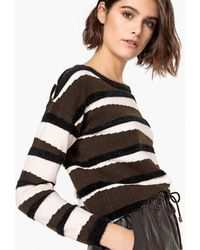 La Redoute - Boat Neck Zebra Jumper/sweater - Lyst