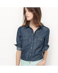 La Redoute - Long-sleeved Denim Shirt With Breast Pockets - Lyst