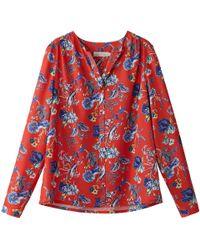 See U Soon - Long-sleeved Floral Print V-neck Blouse - Lyst