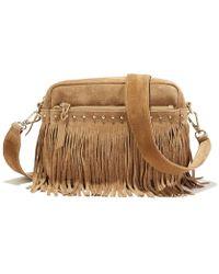 La Redoute - Fringed Suede Handbag - Lyst