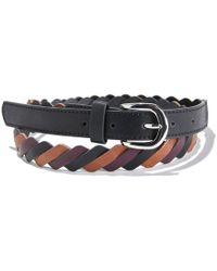 La Redoute - Slim Multi-coloured Plaited Belt - Lyst