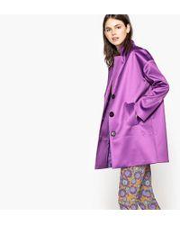 La Redoute - Ovoid-shape Overcoat With Satin Finish - Lyst