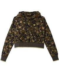 Converse - Camouflage Print Cotton Hoodie - Lyst