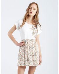 36277740308 Lyst - Compañía Fantástica Falda Marino Date Skater Skirt in Blue