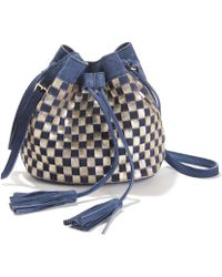 La Redoute - Checked Suede Bag - Lyst