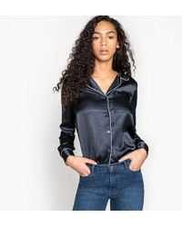 La Redoute - Satin Look Tailored Collar Shirt - Lyst