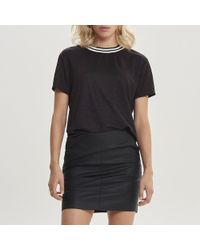 ONLY - Crew Neck T-shirt With Metallic Fibres - Lyst
