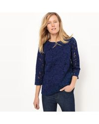 La Redoute - Long-sleeved Guipure Lace Blouse - Lyst