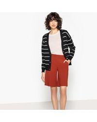 La Redoute - Striped Cardigan With Press-stud Fastening - Lyst
