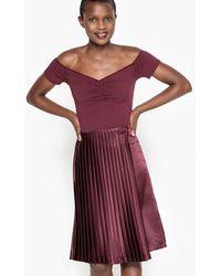 La Redoute - Pleated Midi Skirt - Lyst