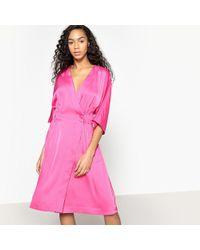 La Redoute - Satin Look Kimono Dress - Lyst