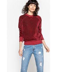 LA REDOUTE | Striped Velour Sweatshirt | Lyst