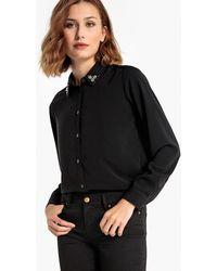School Rag - Plain Blouse With Fancy Collar - Lyst