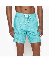 La Redoute - Hawaiian Floral Print Swim Shorts - Lyst