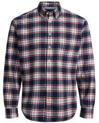 Jack & Jones - Camisa recta a cuadros, de manga larga - Lyst