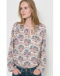 Pepe Jeans - Long-sleeved Printed Blouse - Lyst