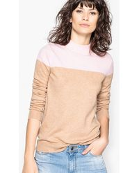 La Redoute - Two-tone High Neck Jumper/sweater - Lyst