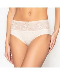 LA REDOUTE   Embroidered Firm Control Full Briefs   Lyst