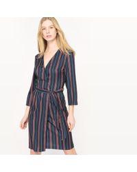 La Redoute - Striped Wrapover Dress - Lyst