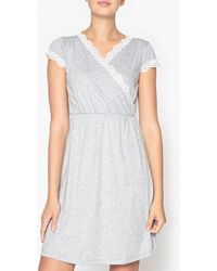 La Redoute - Nightshirt With Lace Details - Lyst