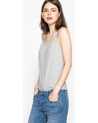 LA REDOUTE | Plain Top With Shoestring Straps | Lyst