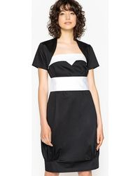 La Redoute - Contrast Inset Dress With Removable Belt - Lyst