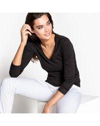La Redoute - Basic Organic Cotton V-neck T-shirt - Lyst