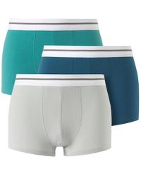 La Redoute - Pack Of 3 Plain Stretch Cotton Jersey Boxers - Lyst