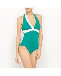 LA REDOUTE | Bodyshaping Plunge Swimsuit | Lyst