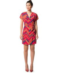 Best Mountain - Graphic Print Midi Shift Dress - Lyst
