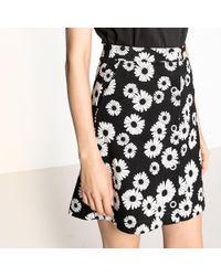 La Redoute - Daisy Print Buttoned Scuba Skirt - Lyst