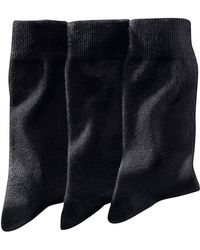 LA REDOUTE | Pack Of 3 Pairs Of Plain Cotton Rich Socks | Lyst