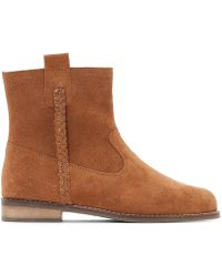 La Redoute - Leather Zip-up Ankle Boots, Sizes 26-39 - Lyst