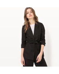 La Redoute - Cotton/linen Belted Jacket - Lyst