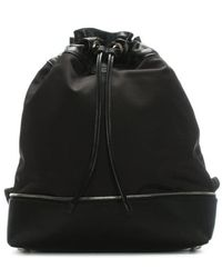 Robert Clergerie - Doly Black Leather & Canvas Drawstring Backpack Colou - Lyst