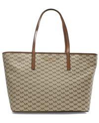 Michael Kors - Emry Natural Luggage Top Zip Tote Bag - Lyst