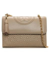Tory Burch | Fleming Convertible New Mink Leather Shoulder Bag | Lyst