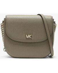 2393ad7e0324 Michael Kors Sloan Lg Chain Shoulder Bag Truffle in Natural - Save ...