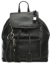 Marc Jacobs - The Bold Grind Black Leather Backpack - Lyst
