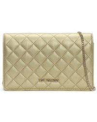 Love Moschino - Bernnese Gold Quilted Cross-body Bag - Lyst