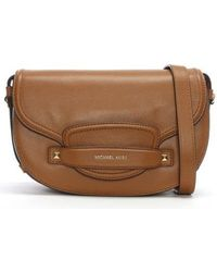 Michael Kors - Medium Cary Acorn Leather Saddle Bag - Lyst