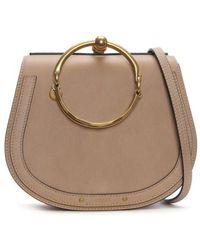 Chloé - Chloe Nile Beige Leather Bracelet Bag - Lyst