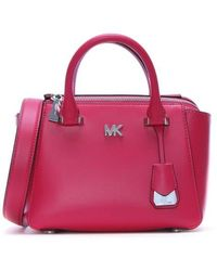 Michael Kors - Nolita Mini Ultra Pink Leather Satchel Bag - Lyst