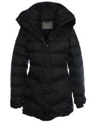 Daniel - Black Mid Length Fur Trim Hooded Jacket - Lyst